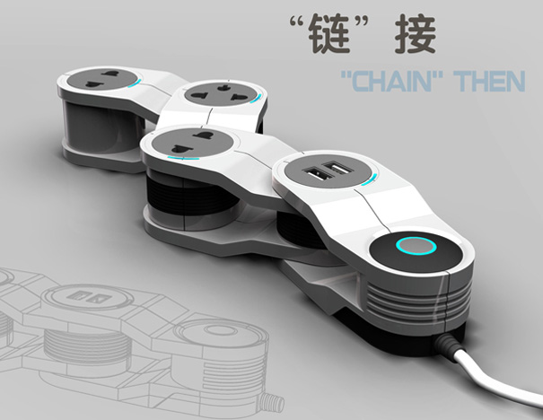 Chain Power Strip by Deng Kai