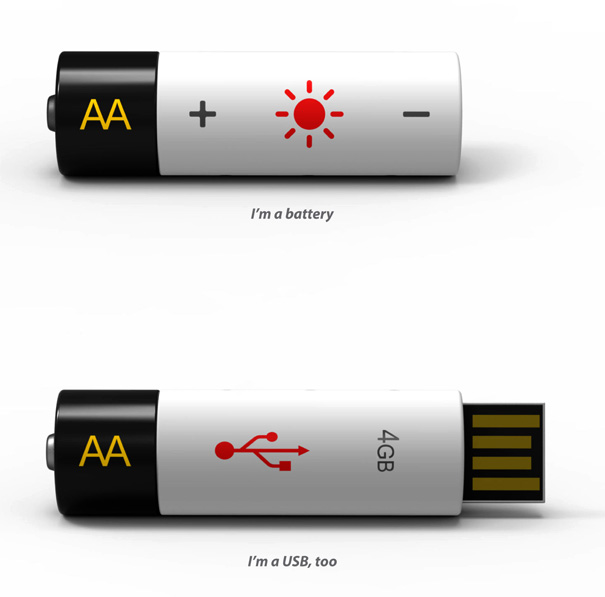 AA USB – AA Battery and USB Combination by Wonchul Hwang