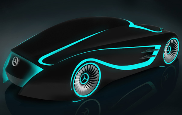 Blackbird Mercedes Goes Tron