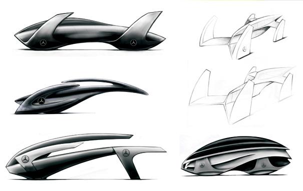 Mercedes Blackbird by Peter Vardai