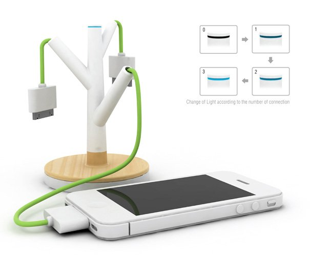 The Giving Tree - Cellphone Battery Charger by Kim Joonmin & Jeong-a Choi