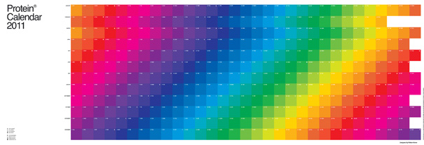 Protein CMYK Color Fade 2011 Calendar by William Rowe for Protein
