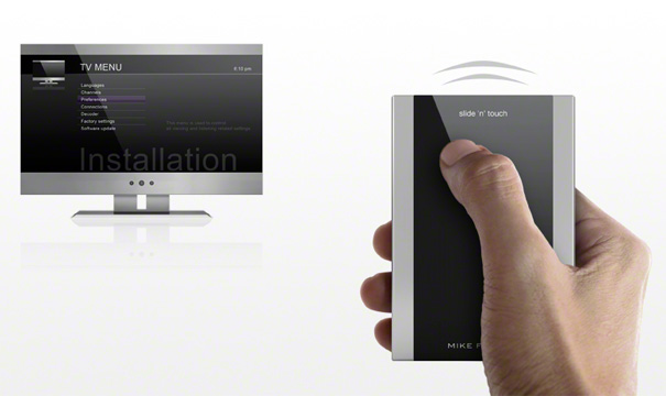 Slide 'n' Touch Remote Control by Mike Flache