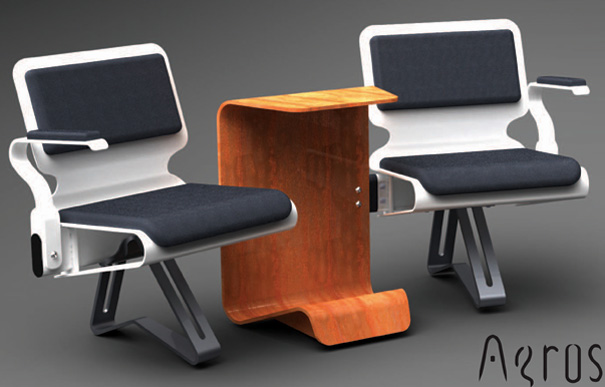 AEROS - Airport Gate Lounge Chair by Michael Dharmawan