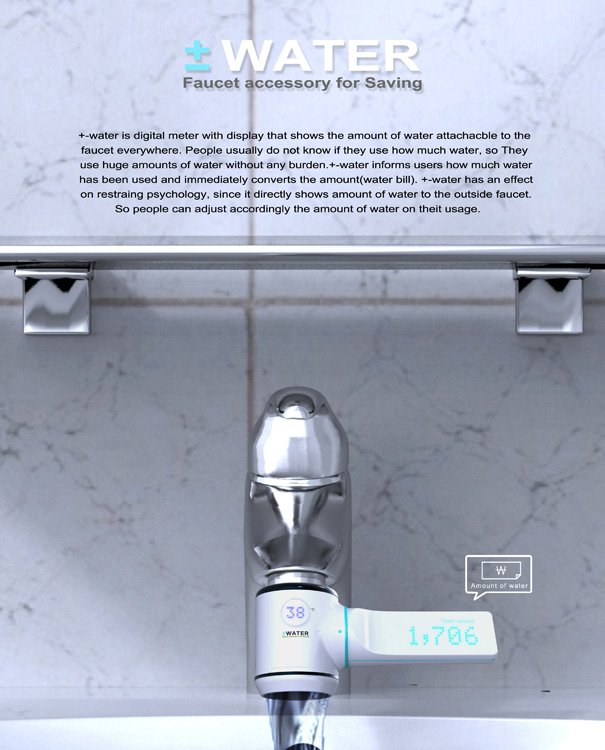 +-water – Water Conservation Meter by Young-Suk Kim