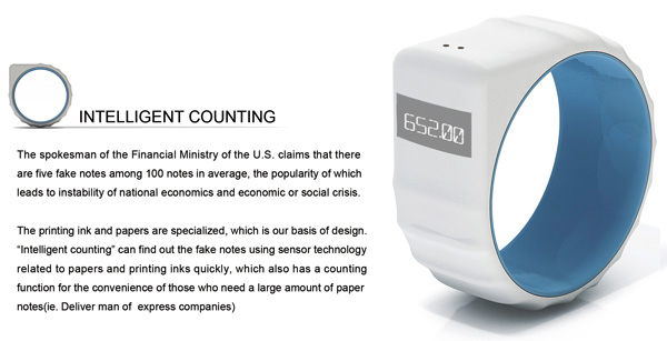 Intelligent Counting - Money Counting Ring by Yitu Wang