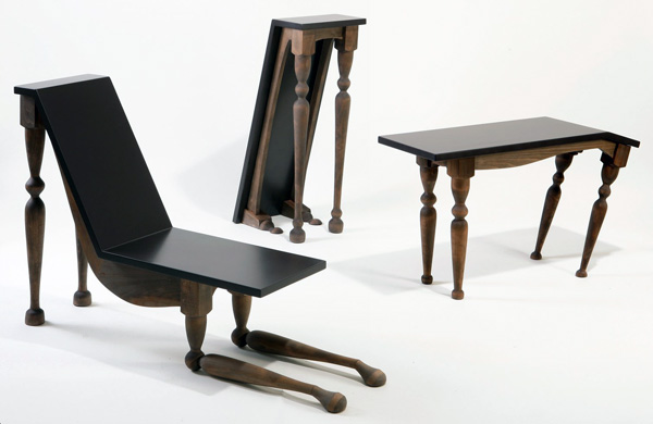 Anthropomorphic furniture the alterrealist for Beauty and the beast table and chairs