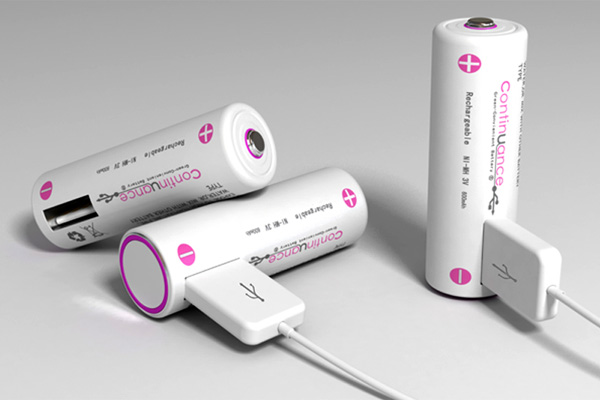 Continuance – AA Rechargeable Battery with USB Interface by Haimo Bao, Hailong Piao, Yuancheng Liu & Xiameng Hu