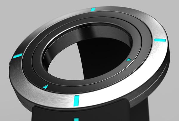 表面空心,圆环形设计的——三环腕表