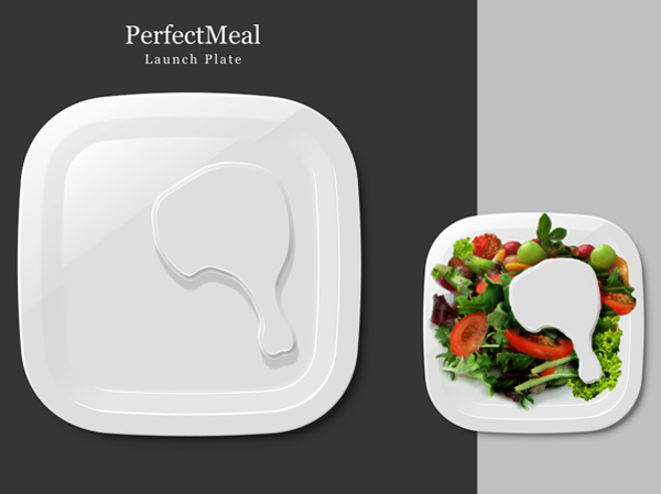 PerfectMeal Dinner Plates by Dave Wu