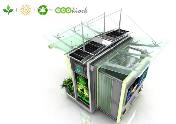 An eco friendly kiosk yanko design for Garden kiosk designs