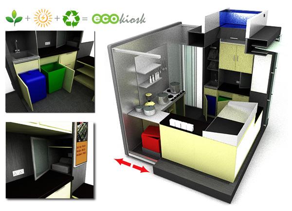 An Eco Friendly Kiosk   Yanko Design