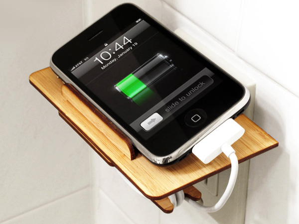 iPhone Pit Stop – iPhone and iPod Classic Charging Station by Nickolas Madsen