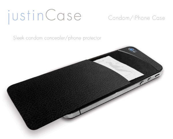 justinCase - iPhone Condom Case by Chris Holder