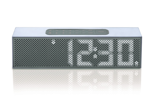 Titanium LED Clock Radio & Bluetooth Speaker by DesignWright for Lexon