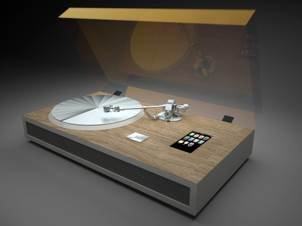 iPhone Dock and Vinyl Player Concept by Olivier Meynard