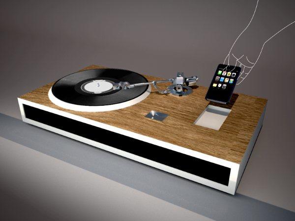 Long Playing Phonographic iPhone Yanko Design