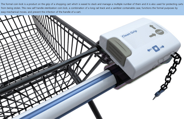 X-Grip Wiper – Hand Grip Sanitizer for Shopping Carts by Kim Kwang-won