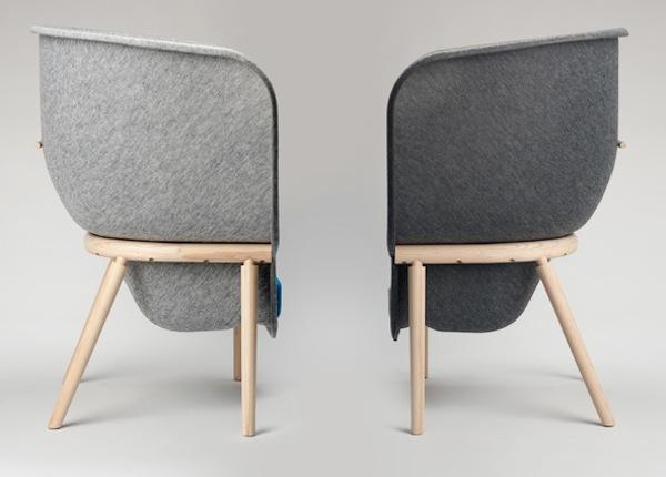 Recycled Pet Felt Chair The Pod Yanko Design