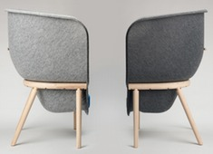 Recycled PET Felt Chair, The Pod