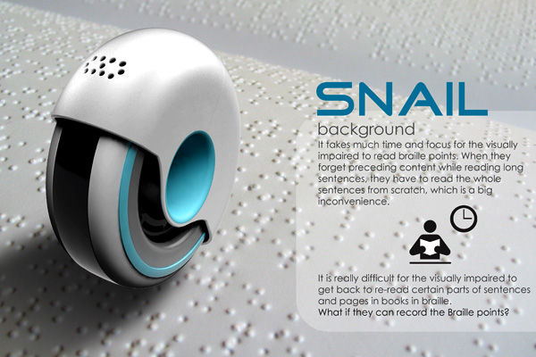Snail – Braille Reader by Wonkook Lee