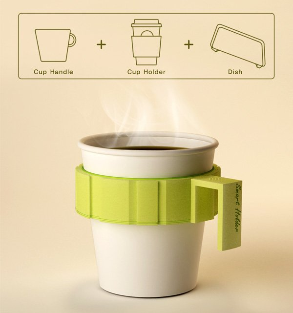 Smart Holder – Coffee Cup Sleeve by Jongwoo Choi