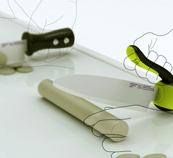 Swing Capsule - Kitchen Knife Concept by Jongwoo Choi