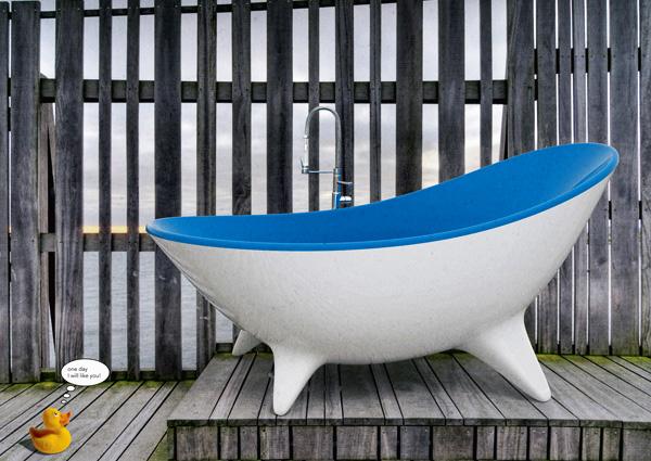 Nessie Bathtub Concept by Moreno Ratti