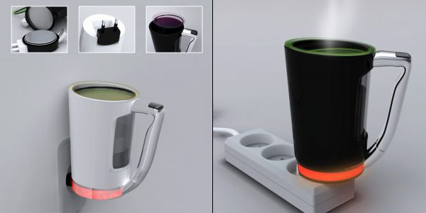 Plug Cup – Single Plugging Cup for Tea and Coffee by Dong Hun Seo, Geun Hyuk Yoo, Ki Sang Yoon & Yune Jae Bang
