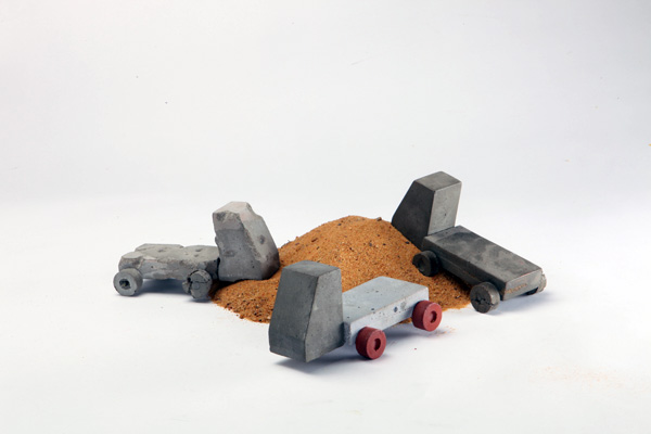 Cement Toy Trucks by Nimrod Or
