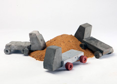 Cement Toy Trucks