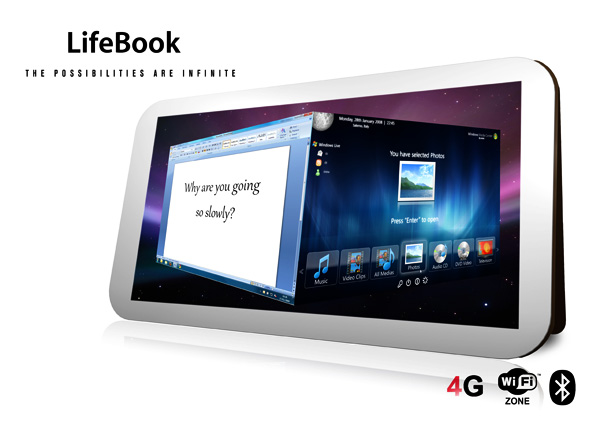 Lifebook Tablet Concept by Alan Donnelly