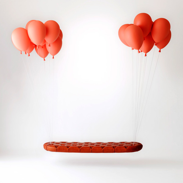 Bench Suspended by Balloons?