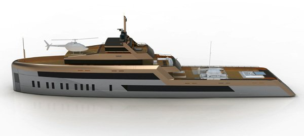 60 Meter Open Water Yacht by Motion Code: Blue