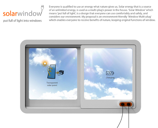 Solar Window – Solar Paneled Window with Multi-tap by Jun-se Kim, Yu-jin Cho & Yu-jin Lee