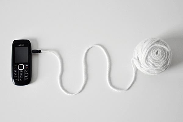 Wool Ball Charger by Yuchen Liu
