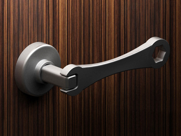 Wrench Handle for Doors by Tirdad Kiamanesh
