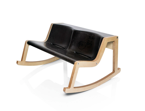 Rocker Bench Mustafa by Helmut Morrison, Loitfelder & Weitkamp and Klaus Fuchsenberger