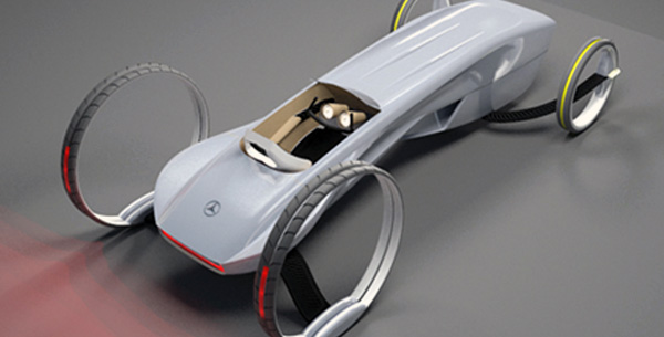 Mercedes Electric Concept Vehicle by Ali Khanzadi