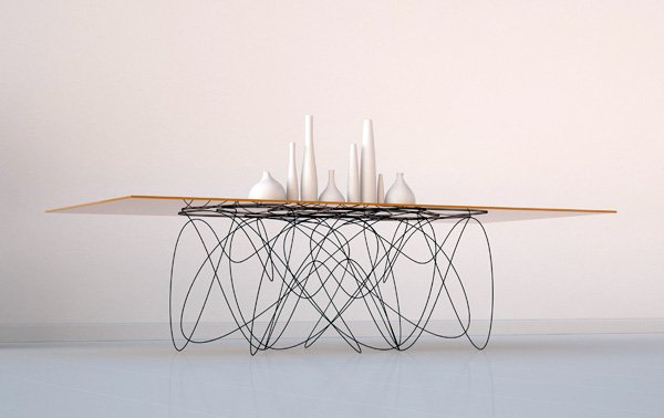 Subatomic table yanko design for Pied de table design