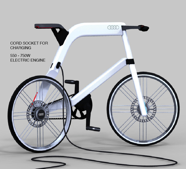 audi electric bike yanko design. Black Bedroom Furniture Sets. Home Design Ideas