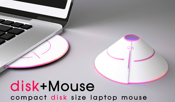 disk+Mouse – Compact Disk Shape Mouse by Seung Han Jung