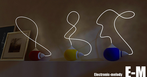 E-M – Electronic Melody Lamp by Fuming Wu