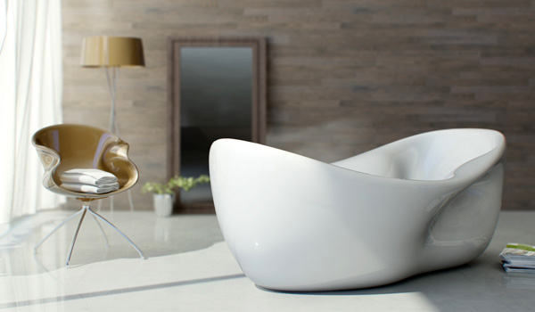 Charme Bathtub by Nuvist Architecture & Design