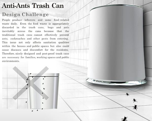 Anti-Ants Trash Can by Shu-Hsuan Chang