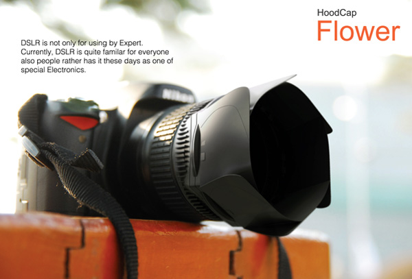 Flower – DSLR Camera Cap With Hood by Rhie Hyi Joong & Lee Sang Hwa