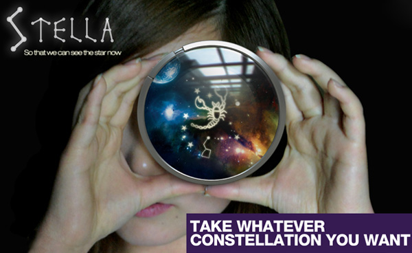 Stella – Camera & Projector Combo Device to Capture Constellations by Seung-Kwon Kim, Seung-Ju Kim & Zhong-fa Lie