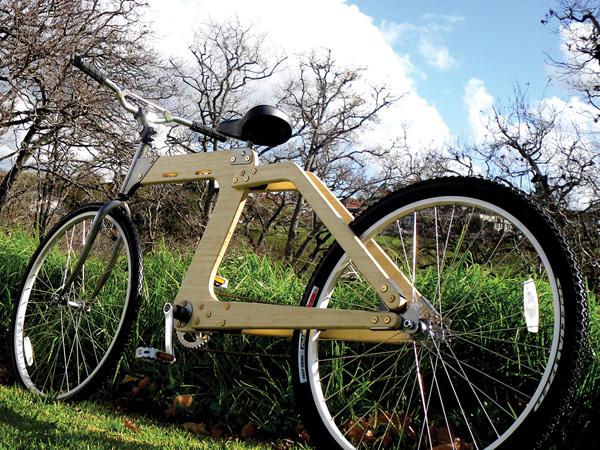 экологичный деревянный велосипед