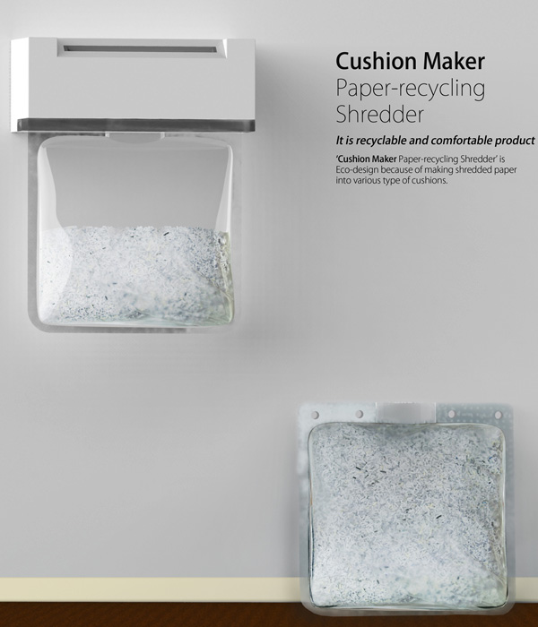 Cushion Maker Paper-recycling Shredder by Gyeongwan Koo (Oliver)