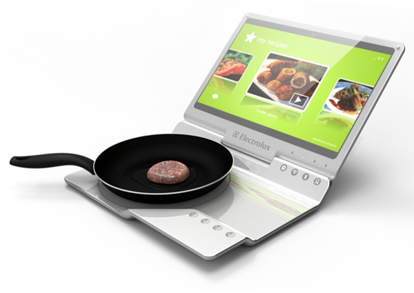 Best Design News electrolux_cooking_laptop Age of the Notebook Kitchen? Hot Design